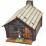 28-AML-101 - Pre-painted Pioneer's Log Timber Cabin 1 (New England)