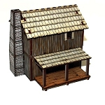 28-AML-107  Pre-painted New France Loft Cabin