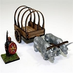 4GD-28-305 - 28mm Roman Ox Cart