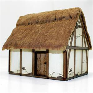 28S-DAR-102 Saxon/Medieval Hovel Pre-Painted (1/56th)