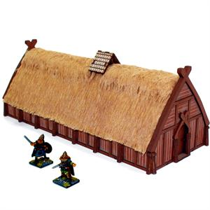28S-DAR-105 Norse Longhouse Pre-Painted (1/56th)