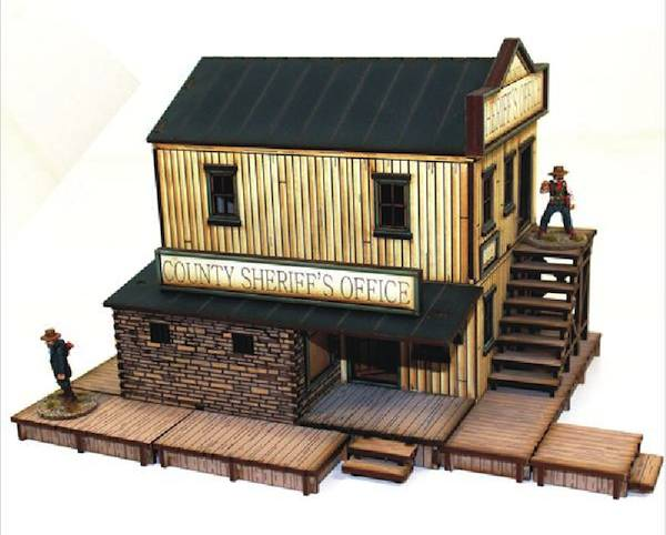 28S-DMH-108 - Main Street Western Pre-painted Sheriff's Office (1/56th)