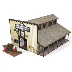 28S-DMH-114 - Western Miller's Livery Stable (1/56th , 28mm)
