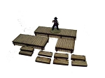 28S-DMH Western Pre-painted Boardwalks (1/56th)