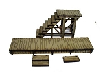28S-DMH Western Pre-painted Stairs & Boardwalk (1/56th)