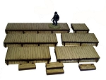 28S-DMH Western Pre-painted Long Boardwalks (1/56th)