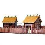 EDO-104 Village Wooden Gates (with fencing) (1/56th)