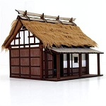 28S-EDO-105 - Japanese Peasant Smallholder's Dwelling (1/56th Prepainted Building)