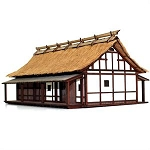 28S-EDO-109 - Japanese Village Elder's House (1/56th Prepainted Building)