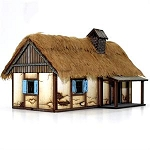 28S-WAW-119 - Polish Rural Dwelling (1/56th Prepainted Building)