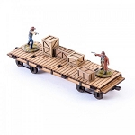 4GD-28S-DMH-144 - 19th C. Flat Car (1/56th , 28mm)