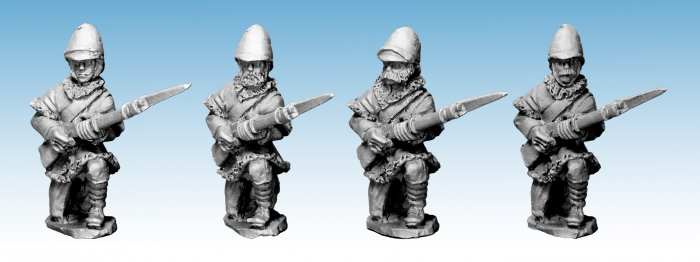 NWF0011 -  British Infantry Kneeling. In Poshteens. 2nd Afghan War (4)