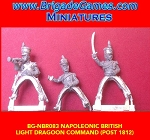 BG-NBR083 Napoleonic British Light Dragoon command - post 1812 (3 figure pack)