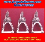 BG-NBR85 Napoleonic British Light Dragoon Troopers II - post 1812 (3 figure pack)