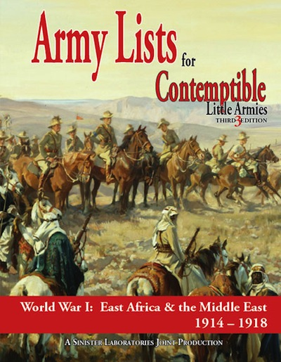 Contemptible Little Armies Lists 2 (Africa, Middle East ,1914-1918) PDF (Digital) Version