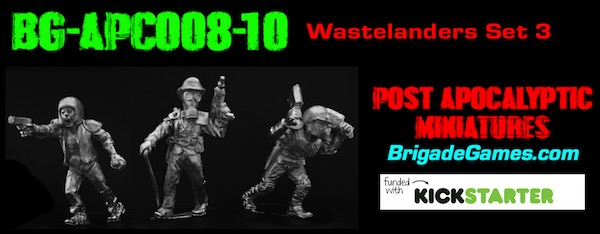 BG-APC008-10  Apocalyptic Wastelanders 3 - Raiders I (set of 3 )