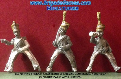 BG-NFR110 French Chasseurs a Cheval Command, 1800-1807