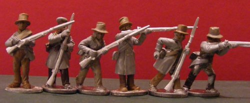 BG-NCA121  War of 1812: Canadian Militia - Skirmishing (All 6 variants)