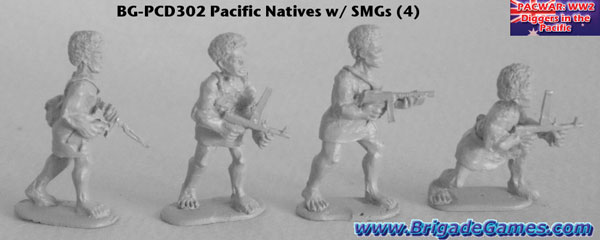 BG-PCD302  Pacific Island Native Infantry - SMGs (4)