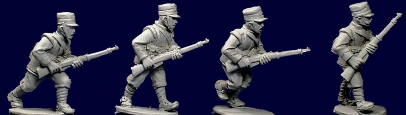 Italian Infantry I - advancing - caps (8)