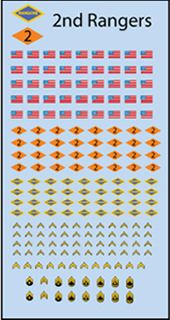Decals: U.S. 2nd Rangers