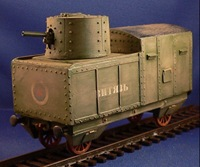 Armored Train Artillery Turret Car (1/56th)