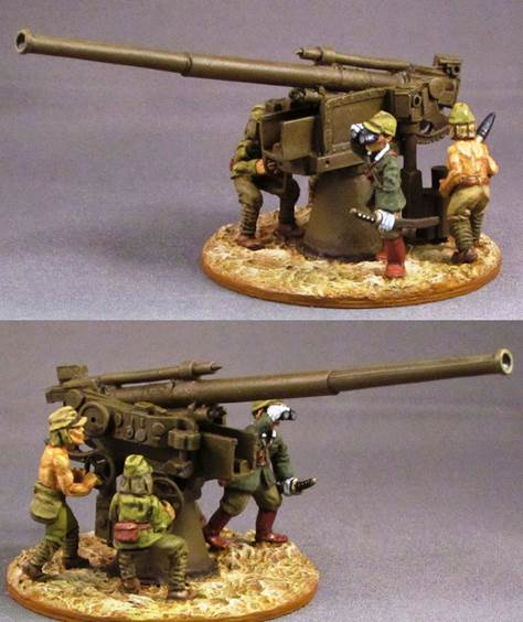 Japanese Heavy AA/Shore gun & Crew(4)