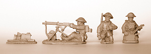 British Vickers Machine Gun (with 3 crew)