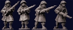 SWW351  US Infantry in Greatcoats with Rifles (4)