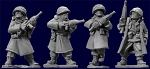 SWW352  US Infantry in Greatcoats with Carbines (4)