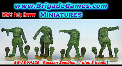 Russian Zombies (4 plus 8 heads)