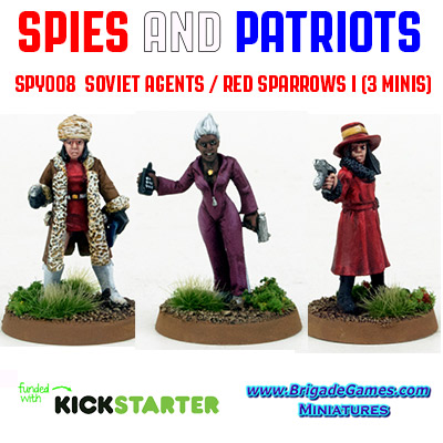 Spies and Patriots - SPY008  Soviet Agents III / Red Sparrows (3)