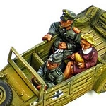 Kubelwagon Crew (Officer, driver, frauline
