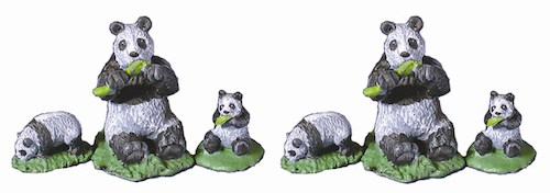 Panda Bears - set of 6
