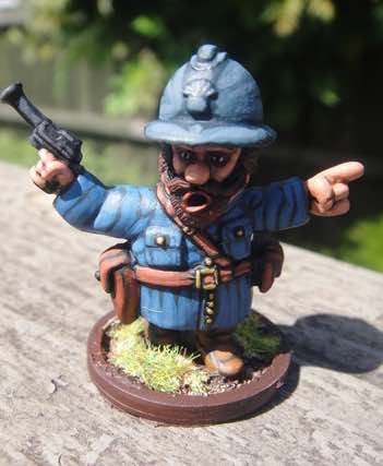 French Gnome Infantry Lieutenant in Adrian helmet