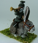 German Uhlan Bugler on Rabbit  (HUGE!)
