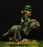 Leprechaun Gnome riding Irish Wolfhound (HUGE!)(1)