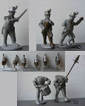BG-NBR006S  British Infantry Command - Stovepipe Shakos & Top Hats- Marching (5)