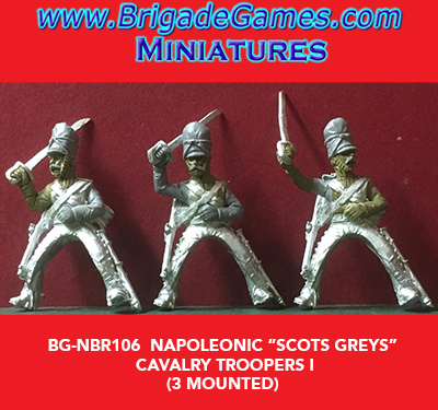 BG-NBR106 Napoleonic Scot Greys Cavalry, Troopers I (3 figure pack)