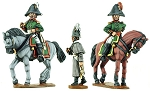 BG-NRU004  Russian mounted colonels 1805-1808 (x2) & foot officer