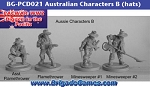 Australians in the Pacific - Characters B - hats (4)