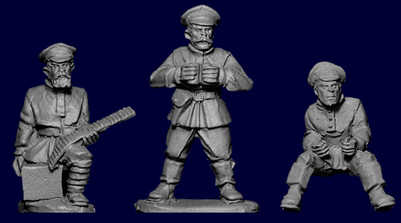 Russian Infantry HMG Maxim Team (3 plus maxim)