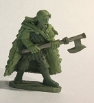 BG-FAC007 Female with cloak, Axe and shield on back - Adventurers of the North Range