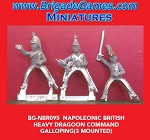 BG-NBR095 Napoleonic British Heavy Dragoon Command, Charging 1812-15 (3 figure pack)