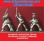BG-NBR100 Napoleonic British Household Cavalry, Command (3 figure pack)