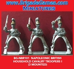 BG-NBR101 Napoleonic British Household Cavalry, Troopers I (3 figure pack)