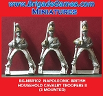 BG-NBR102 Napoleonic British Household Cavalry, Troopers II (3 figure pack)