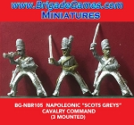 BG-NBR105 Napoleonic Scot Greys Cavalry, Command (3 figure pack)