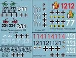 Decals: German Tank Decals Set B