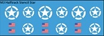 Decals: U.S. Halftrack White Stencil Stars